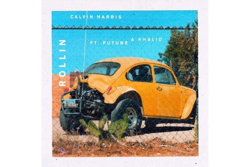 """Calvin Harris が Future と Khalid を客演に迎えた新曲 """"Rollin"""" の音源をリリース"""
