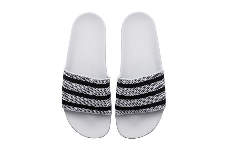 adidas が 夏の定番 adilette に Primeknit を採用しアップデート