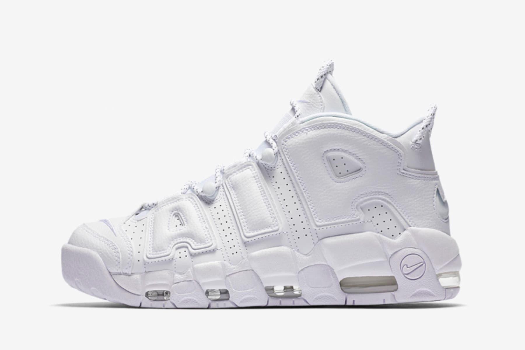 Nike よりオールホワイトの Uptempo フットウェア計3型が登場