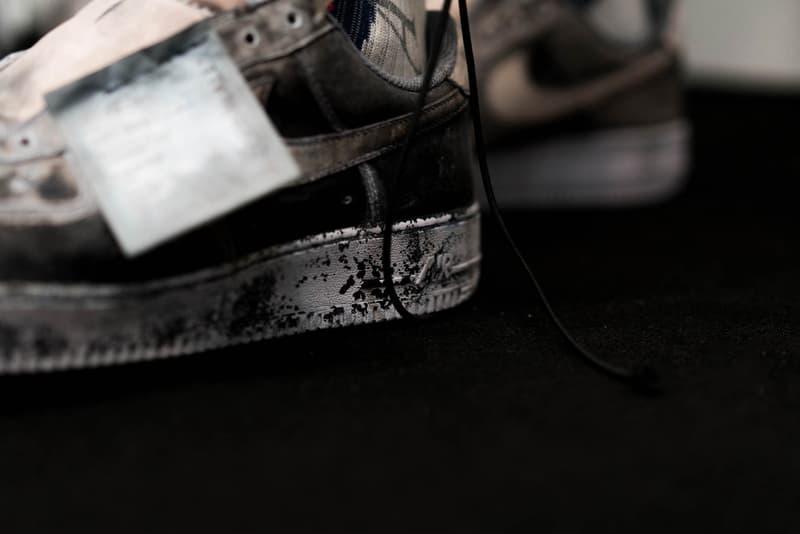 A-COLD-WALL* x NikeLab Air Force 1 のクローズアップフォト ア・コールド・ウォール ナイキ ラボ AF1  2018年春夏コレクションのステージに登場したAF1 Lowには、まさかの日本語の製品タグが