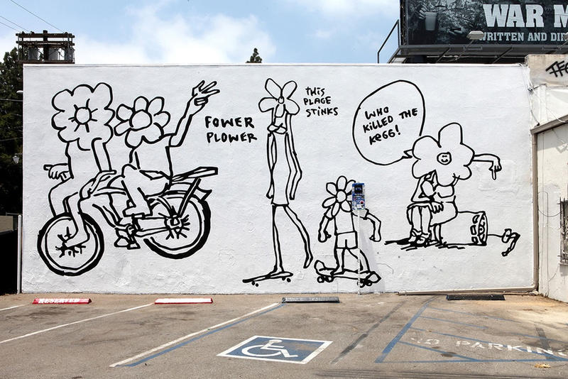 """マーク・ゴンザレスが LA で開催しているアートエキシビション """"Fower Plower"""""""