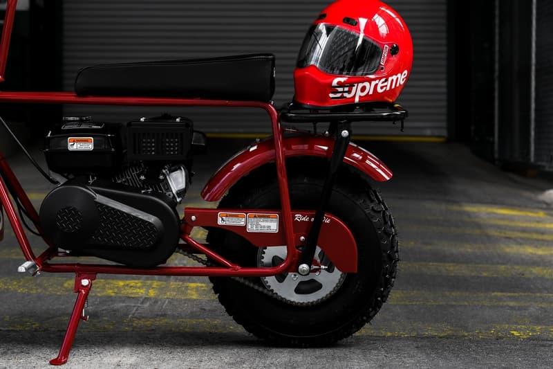 発売前の Supreme x Coleman コラボミニバイクにクローズアップ