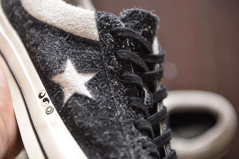 太極図や論語の一節が刻まれた CLOT x Converse の One Star KEVIN POON Edison Chen