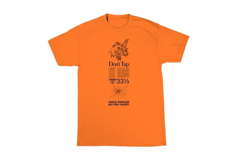 Vince Staples が『Big Fish Theory』のマーチャンダイズを発売 Don't tap the glass.(ガラスを叩かないで下さい) 金魚 ブラック ホワイト ブルー オレンジ