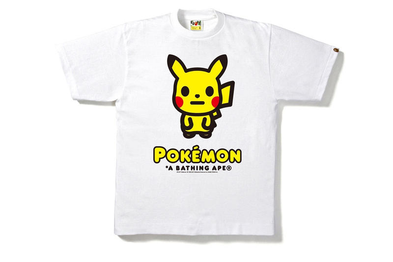 A BATHING APE® x ポケモンコラボ T シャツコレクションが伊勢丹にて発売 pokemon collaboration capsule collection isetan t-shirts