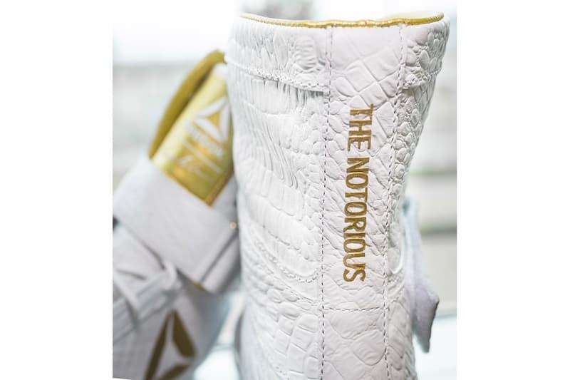 Reebok がコナー・マクレガーに贈呈したカスタムボクシングブーツをチェック