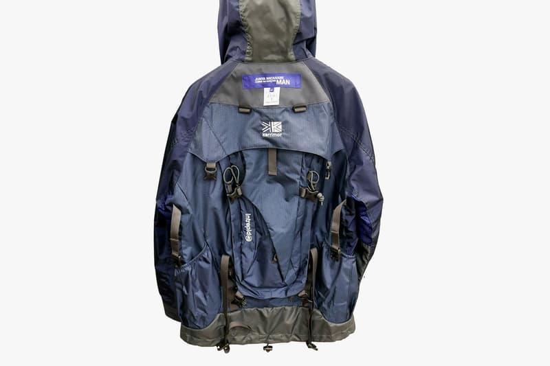 Junya Watanabe x The North Face x Karrimor 2018年春夏コレクションからバックパックと一体化したアノラックパーカが登場 2018ss collection anorak parka backpack