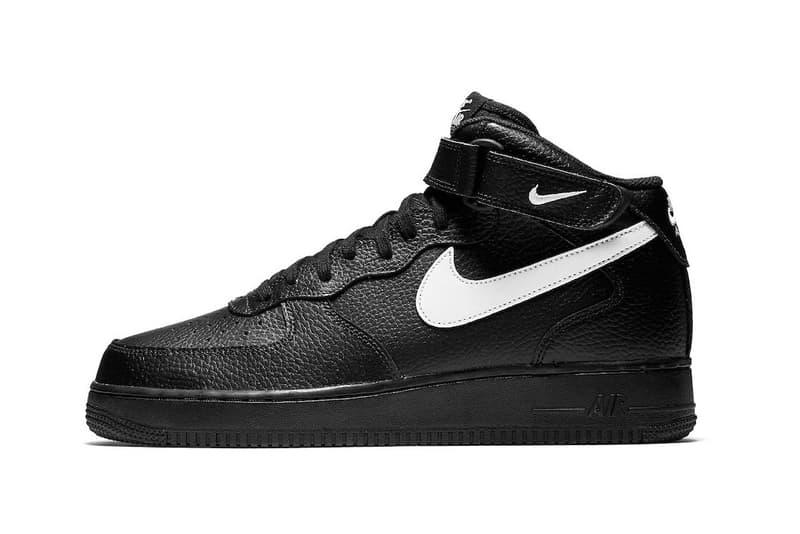 "Nike Air Force 1 Mid から重量感のある新色 ""Black/Sail"" が登場 ブラック/ホワイトの間違いない逸足"