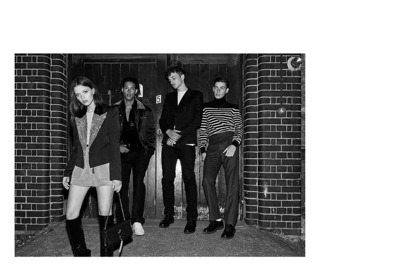 Saint Laurent の2017年秋コレクションでナイトシーンにグラムなエッセンスを