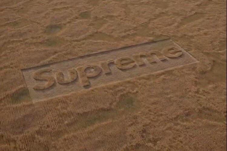 "Supreme がミステリアスなビデオティーザー ""Crop Fields"" を公開 シュプリーム video teaser instagram"