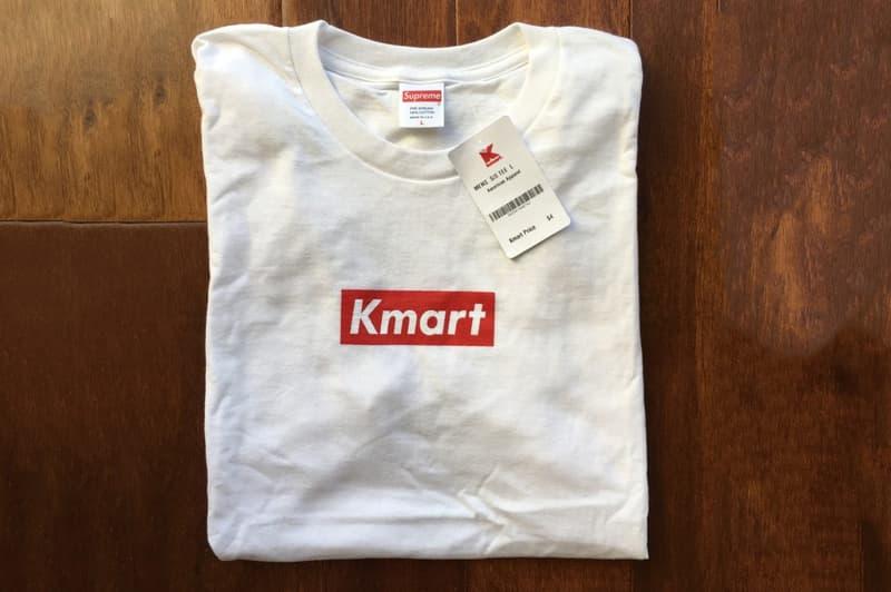 """米スーパー  Supreme 無地Tシャツ """"Kmart"""" ボックスロゴ Tシャツ"""