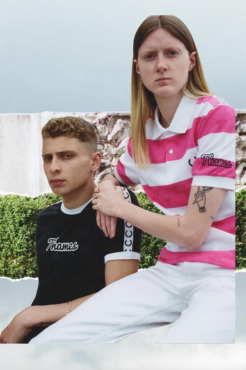 Thames London x Fred Perry コラボレーションルックブック第一弾 ブロンディ・マッコイが英国を象徴するポロシャツを独自の感覚でデザイン