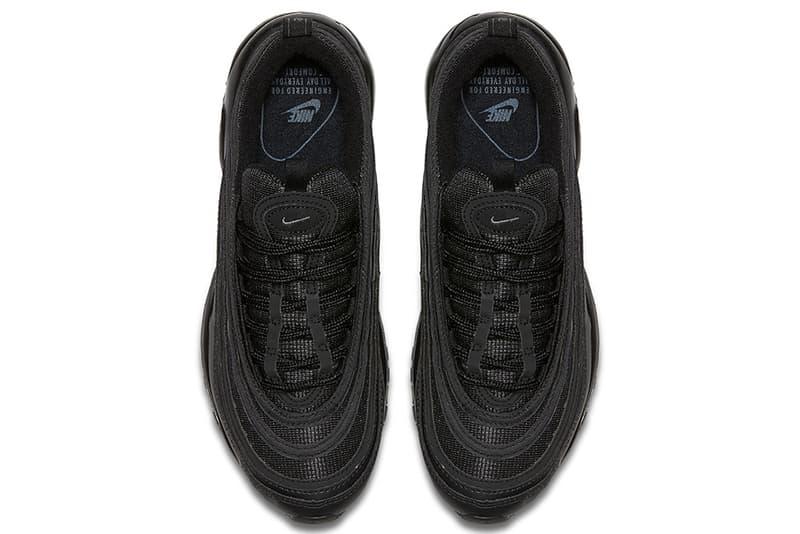 """Nike Air Max 97 """"Triple Black"""" が待望のリリースを迎える 史上最も重力感のあるAM97は言わずもがな完売必至 エアマックス97 トリプルブラック ブラック スニーカー ナイキ"""