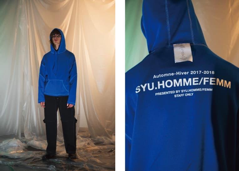 第六感に響くクリエーションを意識した SYU.HOMME/FEMM 2017年秋冬ルックブック 今季のインスピレーションソースは、Instagramでフォローしているヨーロッパのとある少年