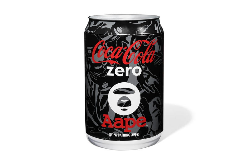 AAPE BY A BATHING APE A BATHING APE® x Coca-Cola Zero の限定カプセルコレクション スペシャルラベルにアレンジされたコレクター垂涎のコカ・コーラ ゼロも発売