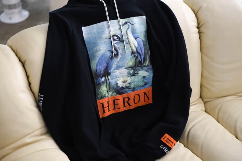 """Heron Preston """"For You, The World"""" インストア ローンチ イベント  GR8 店内 外観 初公開 アウター フーディ Tシャツ"""