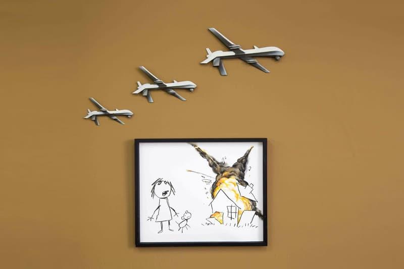 バンクシーが兵器の国際見本市を批判する新作アートピースを公開
