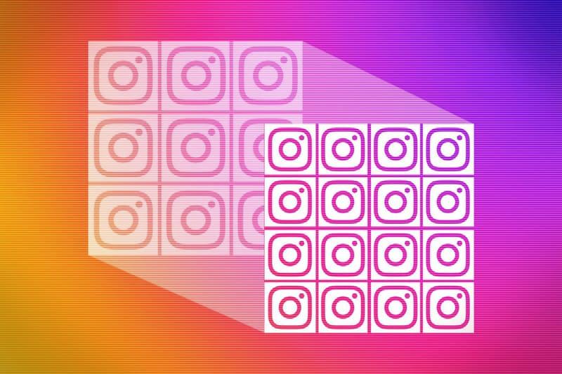 Instagram のグリッドが 3×3 から 4×4 に変更される? 慣れ親しだ3分割グリッド変更の可能性に多方面から現状維持を求める声が インスタグラム