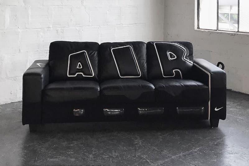 Nike の人気シューズ Air More Uptempo のデザインが落とし込まれたソファが誕生
