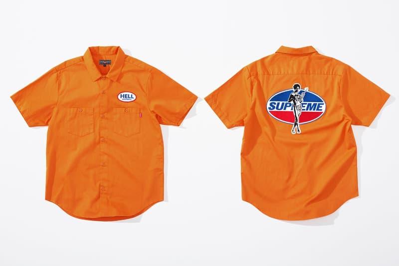 Supreme x HYSTERIC GLAMOUR コラボコレクション アイテム一覧 互いにカルチャーへと深く精通する両者の世界観を色濃く反映したアパレル&アクセサリーをまとめてチェック コート フーディ Tシャツ ワークシャツ キャップ ビーニー ニット帽 クッション 布団  ベルト