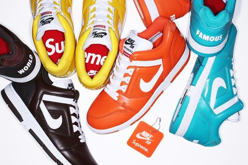 買い逃した方、プレ値で買うのは時期尚早 Supreme x Nike SB Air Force 2 を Nike が再販売 ダークブラウン イエロー オレンジ ライトブルー エアフォース シュプリーム ナイキ