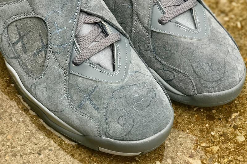 KAWS  Air Jordan 4  インスパイア カスタム Air Jordan 8  登場 スニーカー cool grey