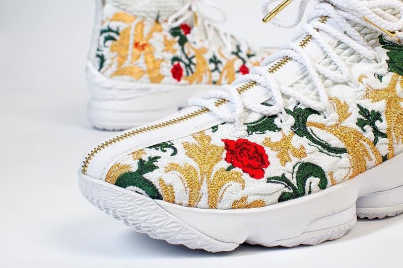 """レブロンがランウェイで着用していた Nike LeBron 15 Zip """"Floral"""" に注目"""