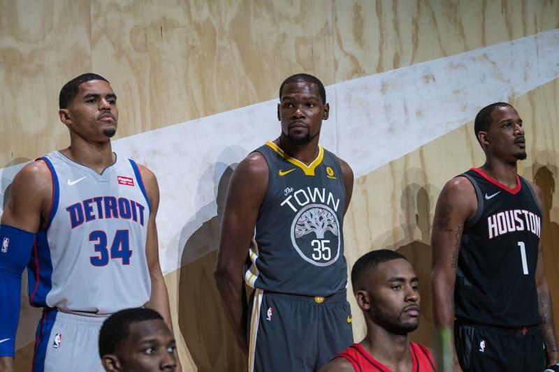 LA Nike  NBA オフィシャル チームジャージ レポート ユニフォーム travis scott kevin durant
