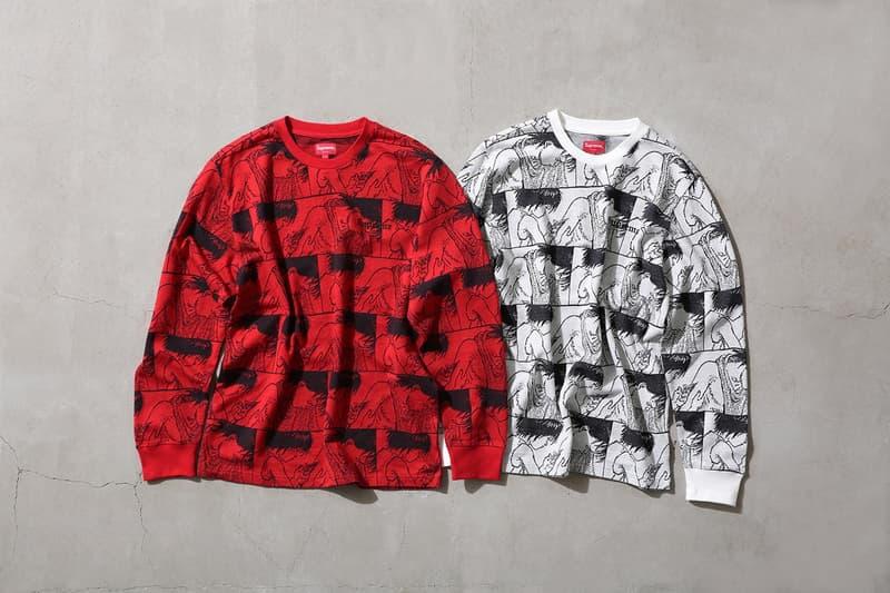 Supreme x 『AKIRA』 2017年秋コレクション アイテム一覧 SNSを騒然とさせた最新コラボレーションの全ラインアップを先行公開  モッズコート ワークジャケット ツナギ フーディ ジップアップパーカ ロングスリーブ Tシャツ サッカーシャツ キャップ スケートボード ディッシュプレート トレイ