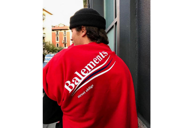 Balenciaga  Vetements  融合 新たな パロディ レーベル Balements が登場 フーディ