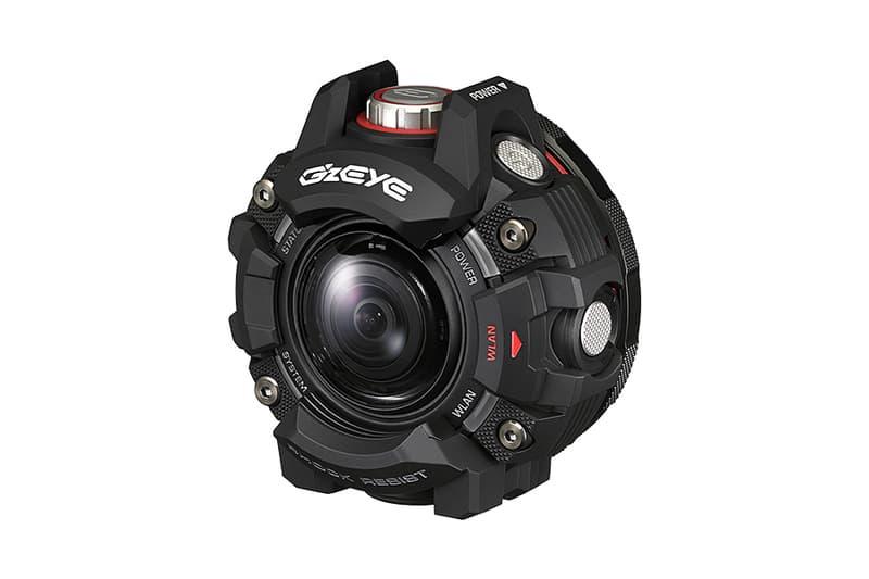 G-SHOCK にヒントを得てタフさを徹底追求したアクションカメラ G'z EYE  耐衝撃 落下4m、防水 水深50m、防塵 IP6X、耐低温 -10℃