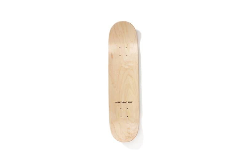 BAPE®のオリジナルカモ柄がスケートボードとウィールに