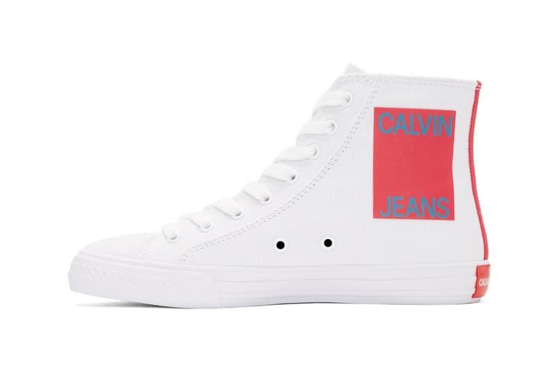 Raf Simons が手がける Calvin Klein 205W39NYC よりハイトップのキャンバススニーカー2色が発売 ラフ・シモンズ カルバン クライン ジーンズ キャンバス スニーカー ハイトップ ハイカット ホワイト ブラック