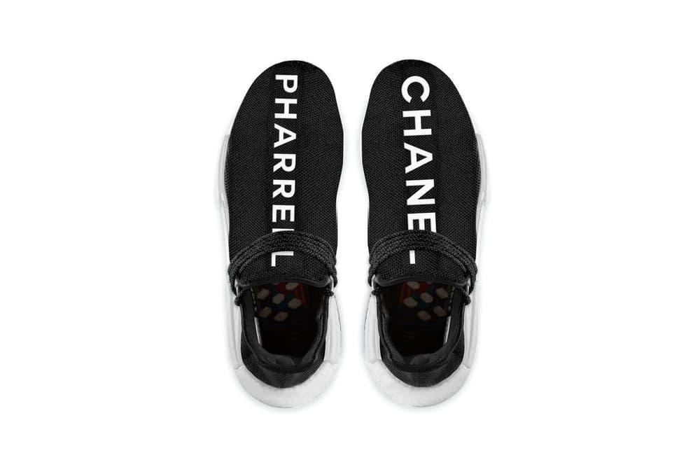 "adidas Originals x Pharrell x CHANEL によるコラボフットウェア""HU NMD""の発売日が判明 かなりのプレ値が期待できるこちらは老舗セレクトショップのみでの発売か?"