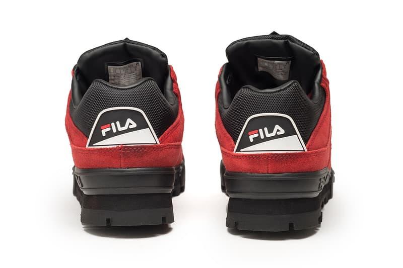 FILA が伝統のトレッキングモデル Trailblazer からスエード仕様の新作をドロップ 90年代のUKレイブシーンで絶大な人気を誇るなど、コアなヘッズの購買意欲を駆り立てる一足