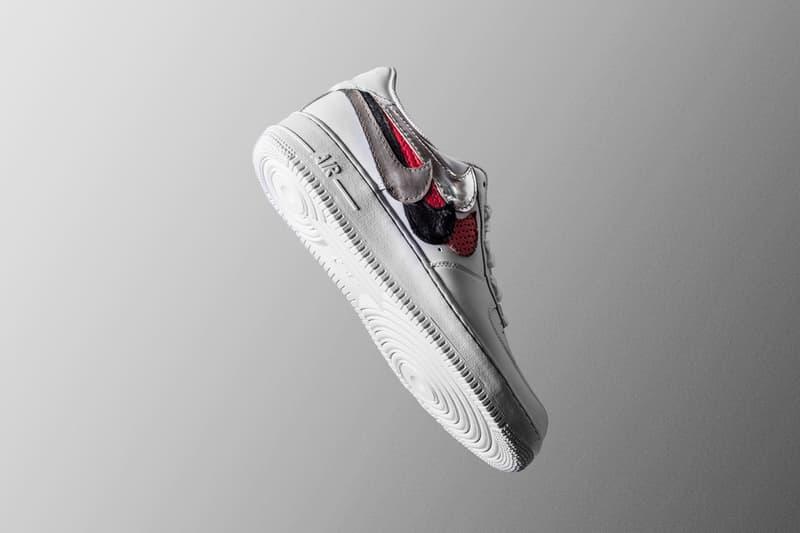 John Geiger と The Shoe Surgeon が手掛けた Nike  AF1 最新モデルが発売 色、柄、多様なスウッシュロゴを配したアイコニックな1足