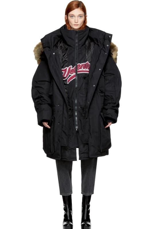 Vetements より2017年秋冬コレクションの3rdデリバリーがローンチ 注目度の高い〈Reebok〉や〈EASTPAK〉とのコラボピースもドロップ ダウンジャケット フーディ ナイロンジャケット ブーツ デニムパンツ バックパック ヴェトモン