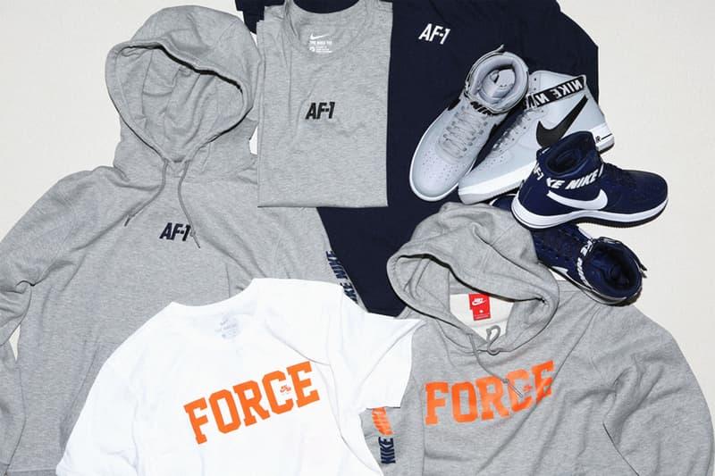 Nike Air Force 1 の誕生35周年を記念した期間限定ポップアップストアがBEAMS T原宿にオープン  オープン当日11月2日(木)からNBA公式アイテムと〈BEAMS T〉別注アイテム3型が展開スタート フーディ Tシャツ フットウェア