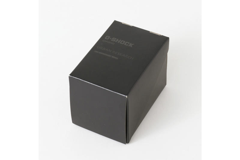 URBAN RESEARCH x G-SHOCK による20周年記念モデルG-100がオールブラック仕様で登場 今の空気感を凝縮したG-100は◯◯本限定という超レアもの