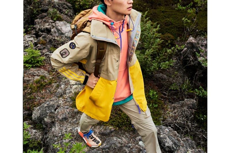 """Pharrell Williams x adidas Originals よりLAハイキング文化から着想を得た""""Statement Hiking""""コレクションが登場 ファレル・ウィリアムスらしいヒネリの効いたカラーパレットに身を包んだアウトドアグッズがラインアップ"""