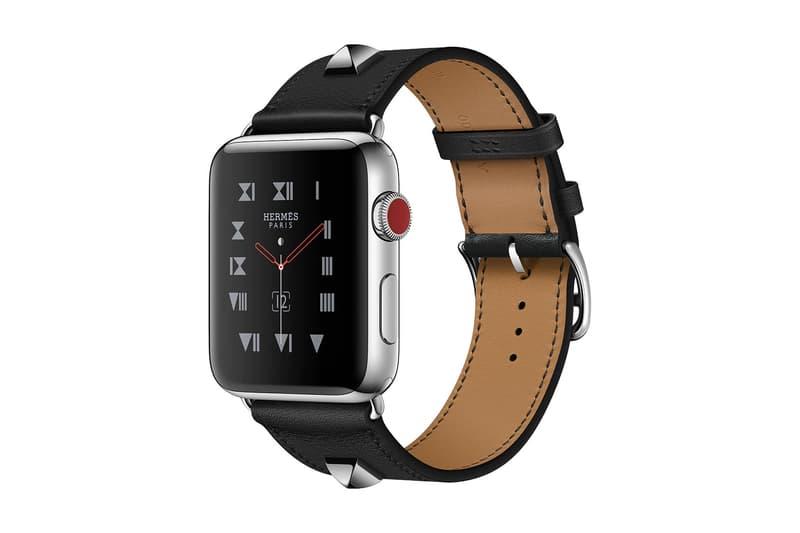"Hermès x Apple より Apple Watch Series 3 対応の新作レザーバンドが登場 猟犬の首輪をモチーフにスタッズを配置した〈Hermès〉の代表作""Médor""を採用"