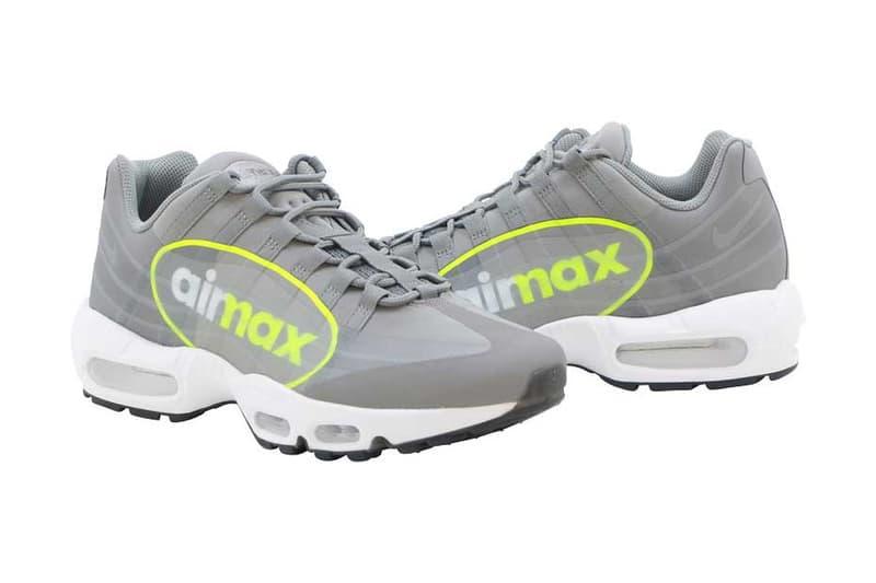 """ツートーンの大きな """"AirMax"""" ロゴが特徴の Nike Air Max 95 がリリース エアマックス ナイキ aimax ロゴ グレー"""