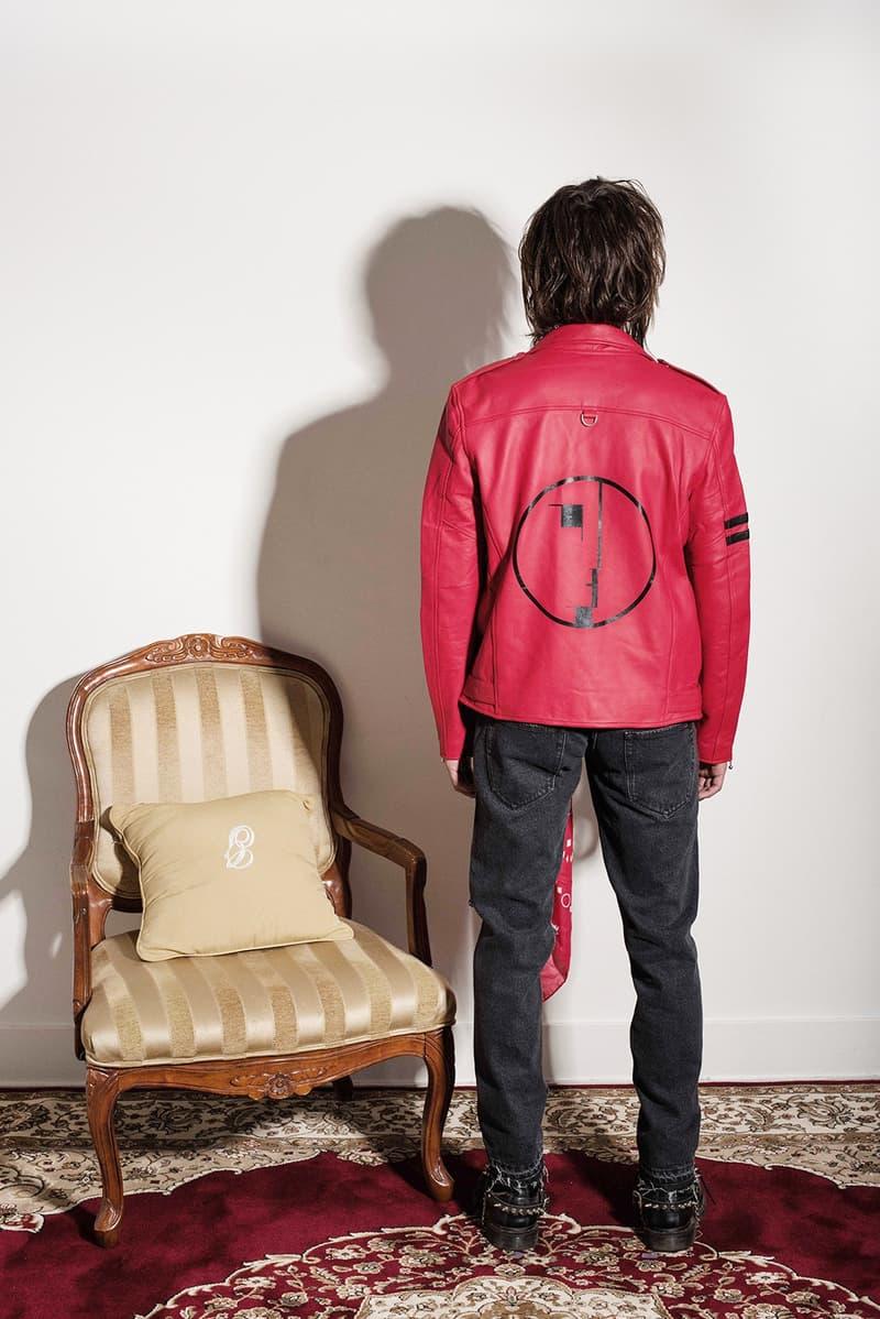 風変わりな80年代ロックスタイルを体現したミッドナイトスタジオ2017年秋冬コレクション 英国パンクバンドをモチーフに〈GUESS〉、〈Hawkers.Co〉とのコラボピースも織り交ぜたルックブック デニムセットアップ ユーティリティポケットベスト サングラス トラックスーツ