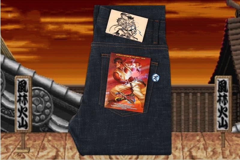 Naked & Famous x『ストリートファイターⅡ』による有名キャラクターを配置したコラボデニムが登場 パッチ、セルビッチ、ポケット裏地に『ストリートファイターⅡ』の主要キャラクターであるリュウとガイルが出現