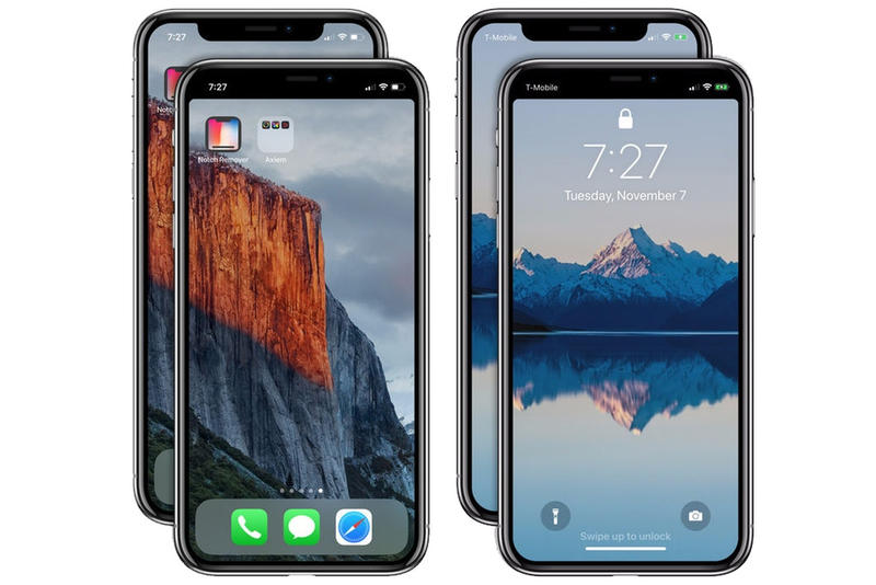 iPhone X の画面上部の気になるノッチ部分に対する悩みを解決するアプリが登場 アイフォーン テン アイフォンテン ベゼルレス ディスプレイ 画面 凹み 黒い 部分 消す ハイプビースト hypebeast アプリ notch ノッチ ノッチリムーバー notch remover