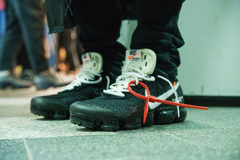 #OnFeet at atmos con Vol.3 スニーカーの祭典「atmos con Vol.3」に来場した入手困難かつヘッズ垂涎のフットウェアにクローズアップ VaporMax Nike Air Jordan 1 Virgil Abloh Reebok Instapump Fury Vetements Undercover diadora