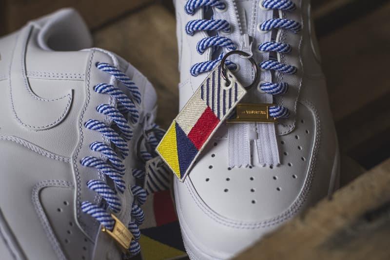 Nike x SneakersBR がそれぞれの記念の年を祝しスペシャルな Air Force 1 Low セットを製作 ナイキ スニーカーズ ブラジル AF1 ホワイト セット シューレース ジッパー デュブレ