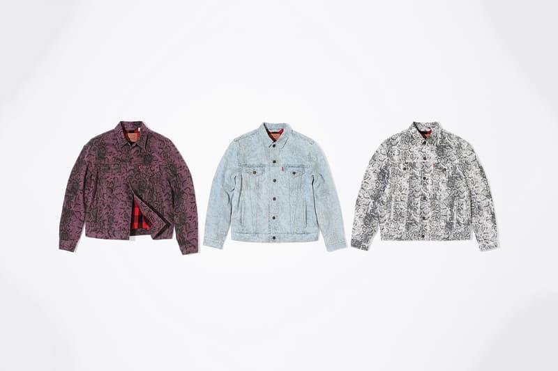 Supreme x Levi's® 2017 秋冬コレクションの全貌が明らかに シュプリーム リーバイス 固い絆で結ばれる伝統のコラボレーションからスネークスキンをキーデザインとしたデニムピース2型が登場