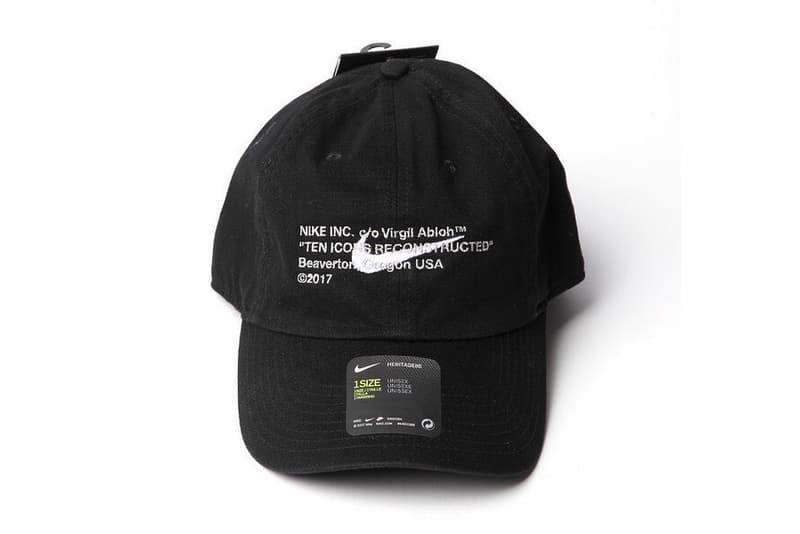ヴァージル・アブロー x Nike 仕様のコラボキャップがゲリラリリース ナイキ  Virgil Abloh ヴァージル・アブロー HYPEBEAST ハイプビースト