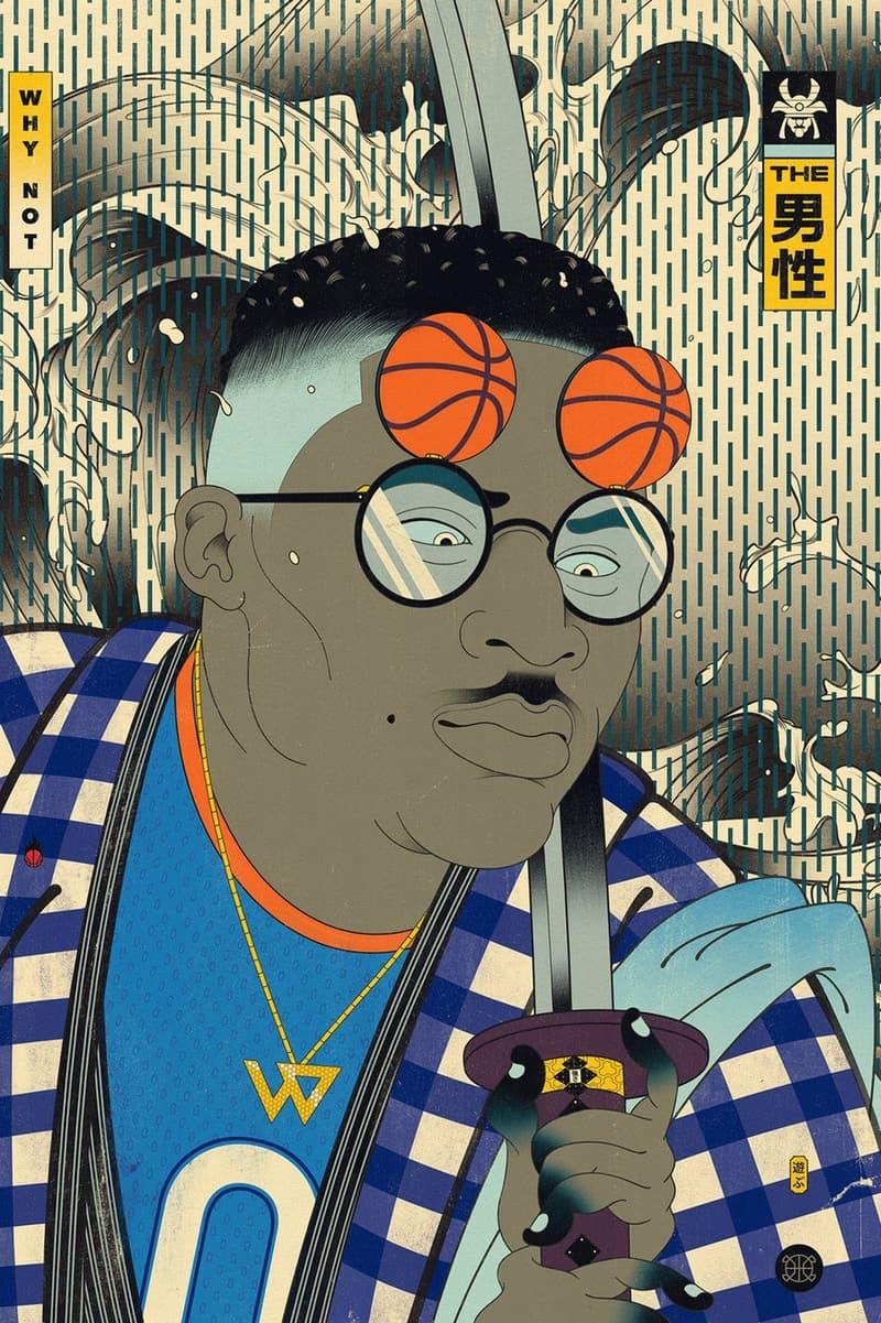 NBA のスター選手たちが風刺の効いたキャラクターで登場する浮世絵をチェック ukiyoe nba バスケ 選手 プレーヤー Dirk Nowitzki ダーク・ノビツキー Kevin Durant ケビン・デュラント ミネソタ・ティンバーウルブズ Karl-Anthony Towns カール=アンソニー・タウンズ ゴールデンステート・ウォリアーズ The Splash Brothers スプラッシュ・ブラザーズ ハイプ ビースト hypebeast